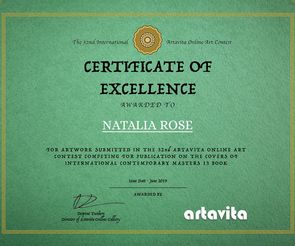 Artavita Contest 32 Finalist Certification - Natalia Rose